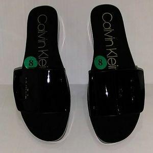 Calvin Klein Women's Marlina Black Sandals Size 8